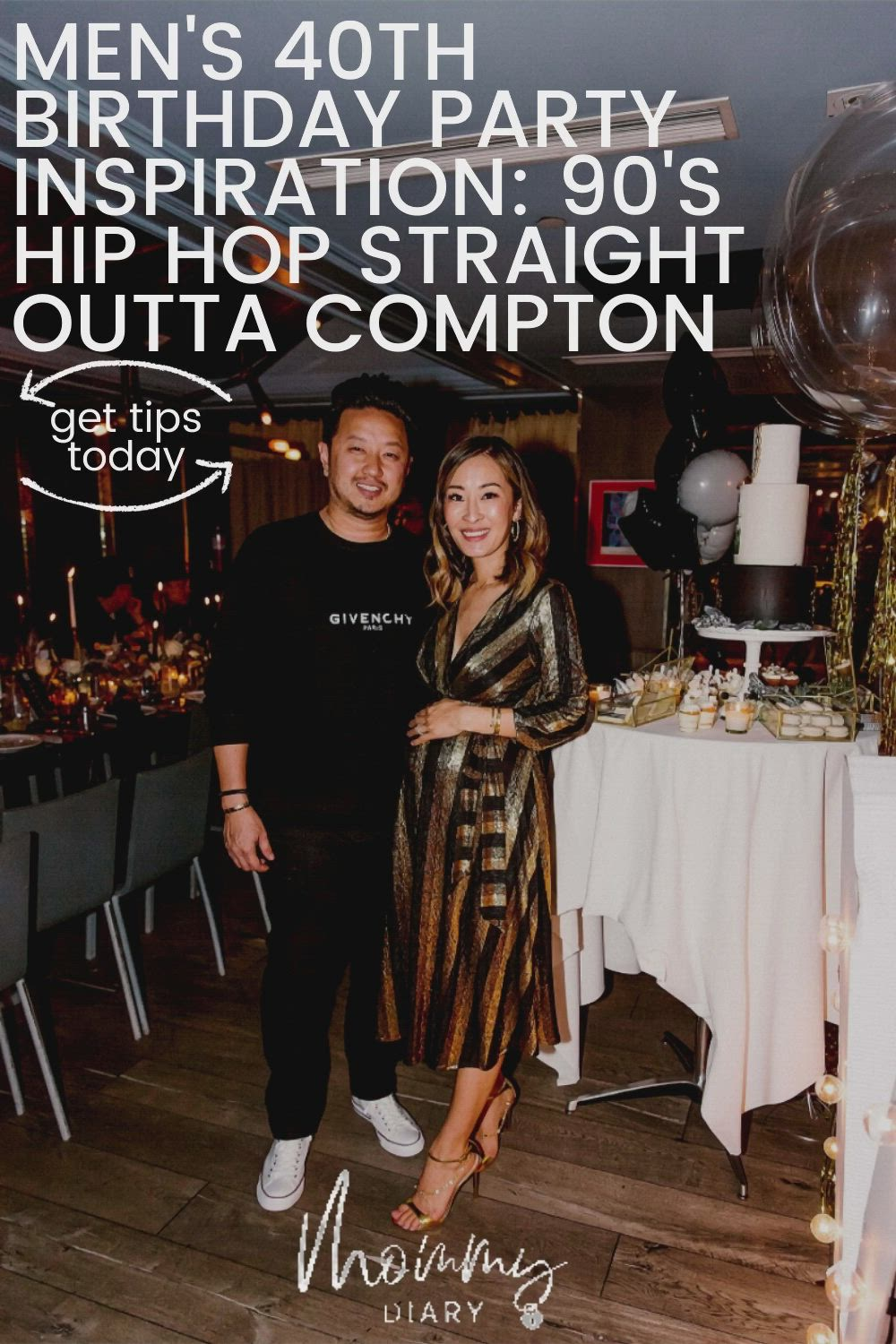 Men S 40th Birthday Party Inspiration 90 S Hip Hop Straight Outta Compton Mommy Diary Video Video 40th Birthday Parties Husband Birthday Parties Mens Birthday Party Decorations [ 1500 x 1000 Pixel ]