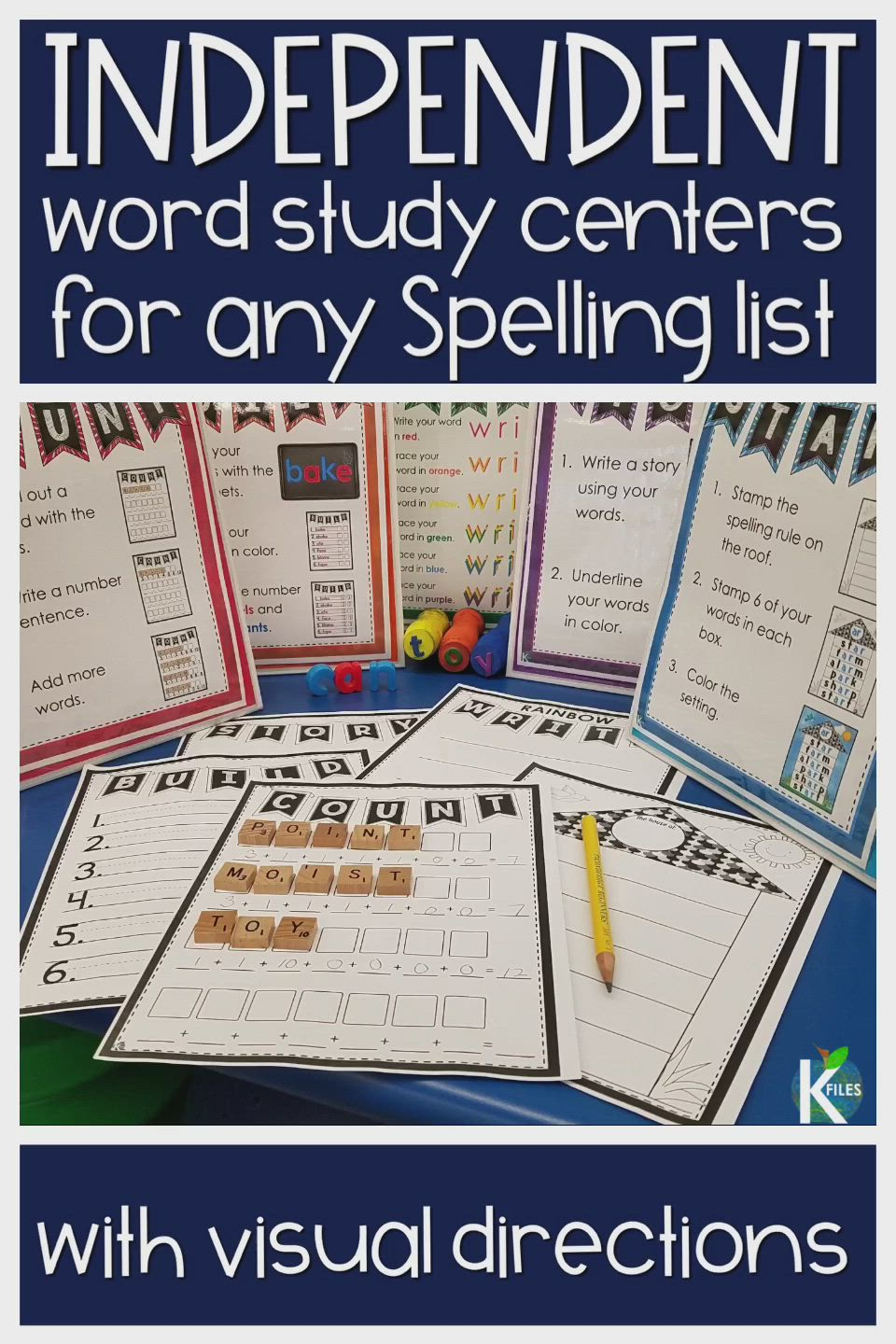 Independent Word Study Centers The K Files Video Video Word Study Centers Word Study Activities Spelling Word Activities [ 1440 x 960 Pixel ]