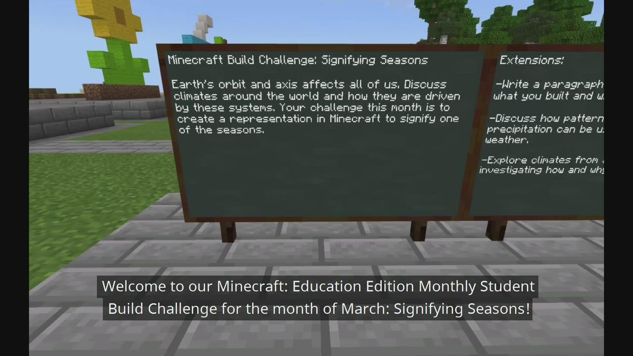Signifying Seasons Minecraft Education Edition Video Video Minecraft Activities Minecraft Structures Seasons