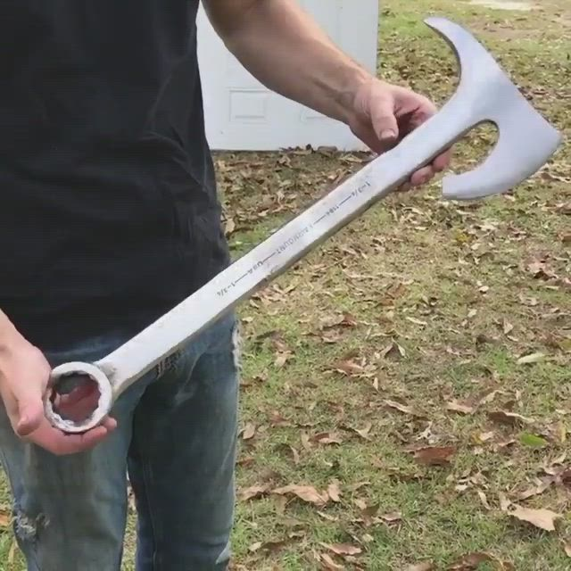 Cool Custom Axe Wrench Video Wrench Knife Knife Cool Knives