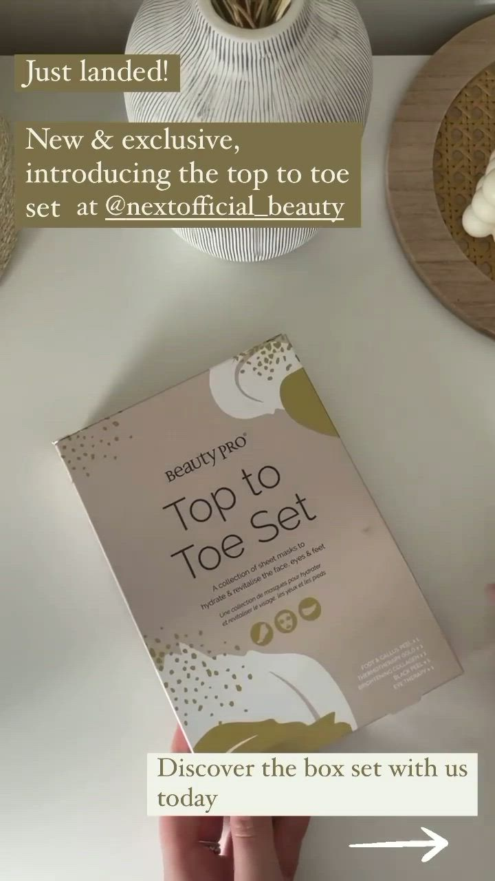 Buy Beautypro Top To Toe Set Worth 23 From The Next Uk Online Shop Video Video In 2021 Top To Toe Brightening Sheet Mask Under Eye Mask
