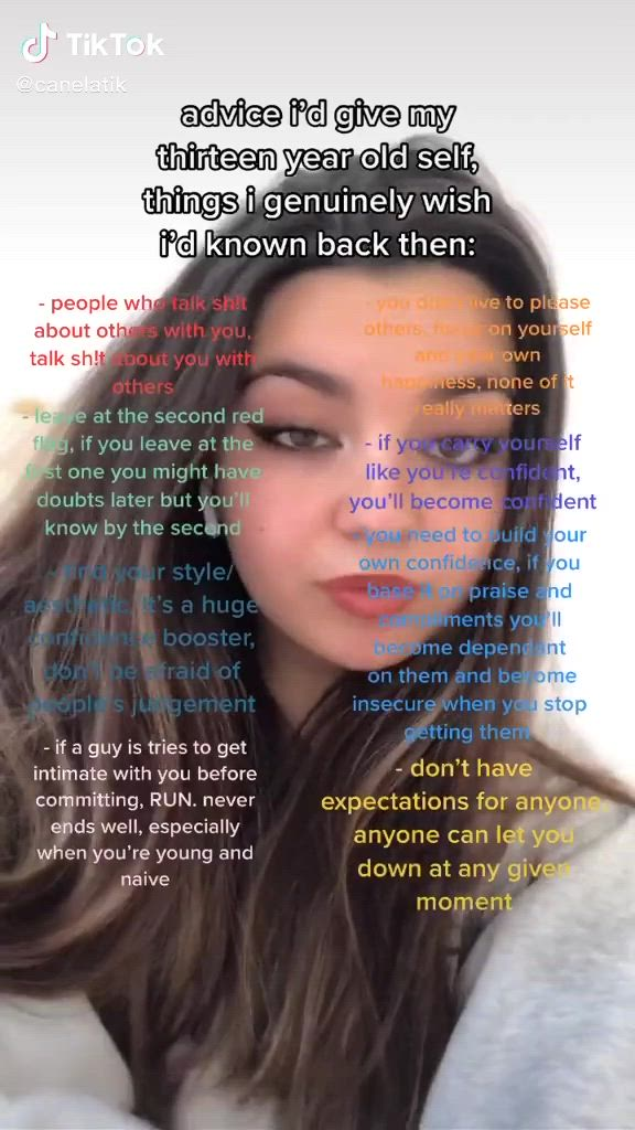 Advice I D Give My 13 Year Old Self Things I Genuinely Wish I D Known Back Then Video Girl Life Hacks Girl Advice Glow Up Tips