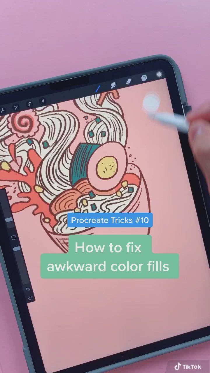 Procreate Quick Tips How To Fill In Awkward Gaps With Color Threshold Video Digital Art Tutorial Procreate Ipad Art Digital Drawing