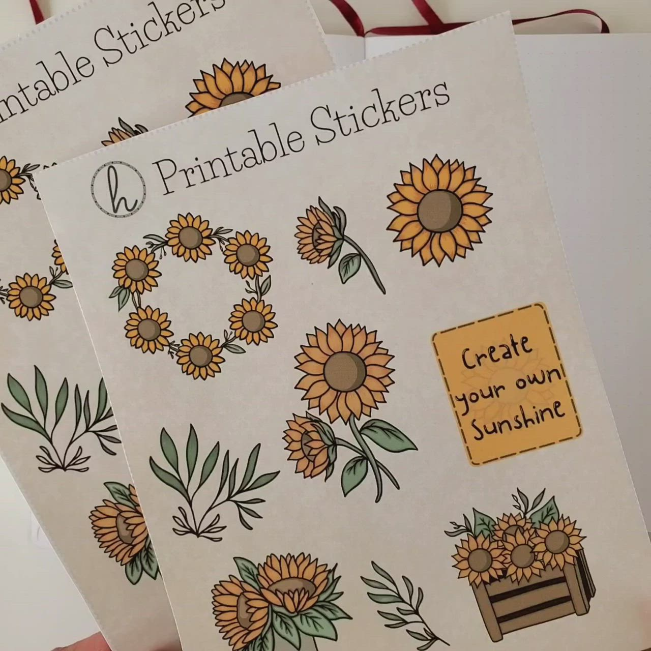 Sunflower Stickers Aesthetic Stickers Spring Bullet Journal Etsy Video Video In 2021 May Bullet Journal Bullet Journal Themes March Bullet Journal