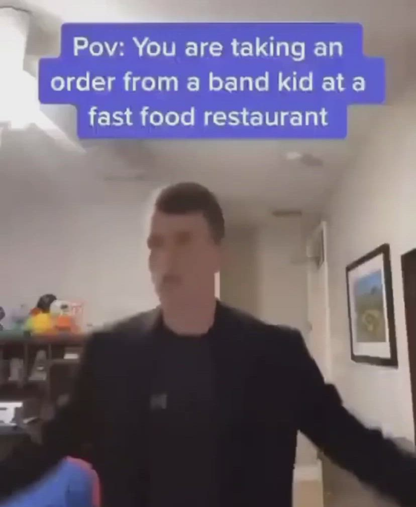 Credit Tik Tok Crywhi Video Band Kid Fast Food Restaurant Pov