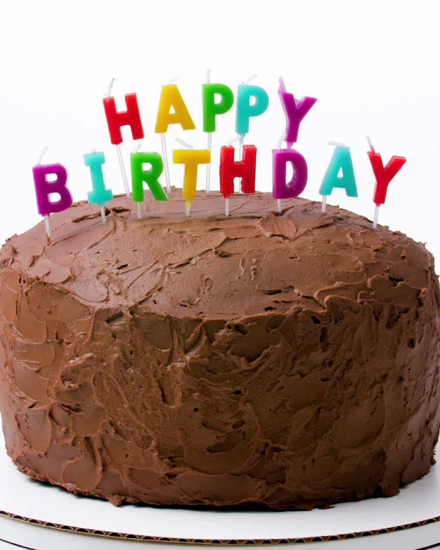 Prime Big Chocolate Birthday Cake Video Recipe Video With Videos Personalised Birthday Cards Veneteletsinfo