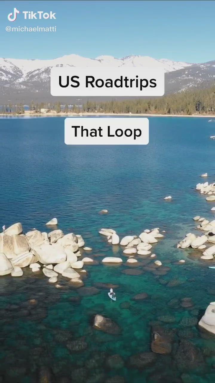 U S Road Trips Road Trips That Loop Video West Coast Road Trip Road Trip Road Trip Packing List