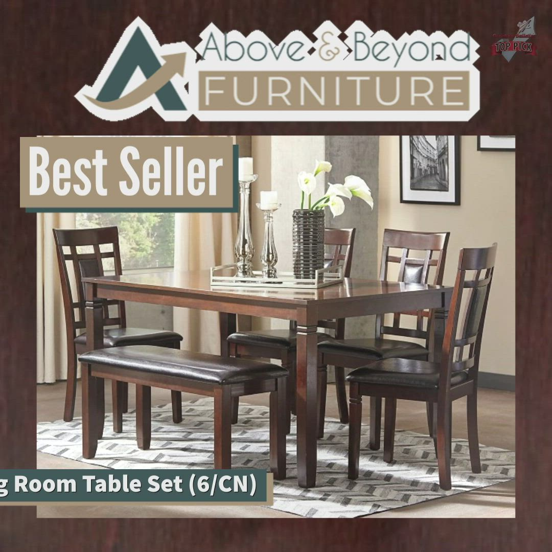 Bennox Dining Room Table Set 6 Cn D384 325 Dining Room Groups Above And Beyond Furniture Superstore Video Video Dining Room Table Dining Room Table Set Dining