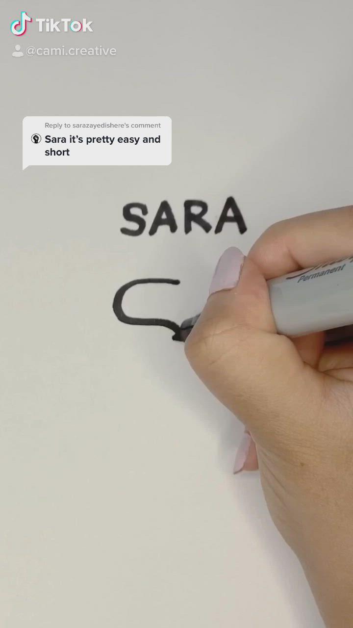 Name Logo Design Sara Video Typo Logo Design Logo Design Trends Typographic Logo Design