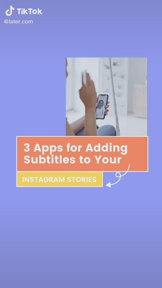 3 Apps For Adding Subtitles On Instagram Video Instagram Story Instagram Apps For Teaching