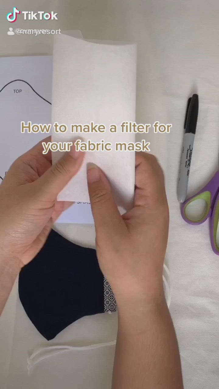 How To Make A Filter For Your Mask Video Diy Face Mask Easy Face Mask Diy Diy Face