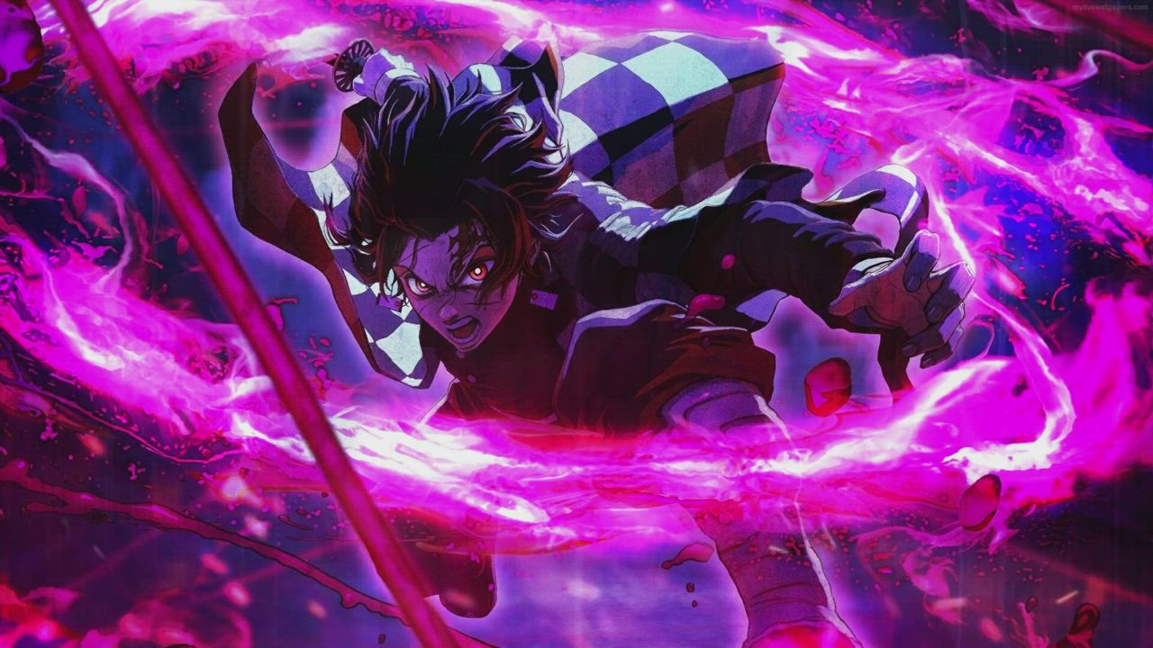 Save Follow Tanjiro Kamado Live Wallpaper Demon Slayer Kimetsu No Yaiba Video Cool Anime Wallpapers Anime Anime Wallpaper 1920x1080 24 gif wallpaper anime