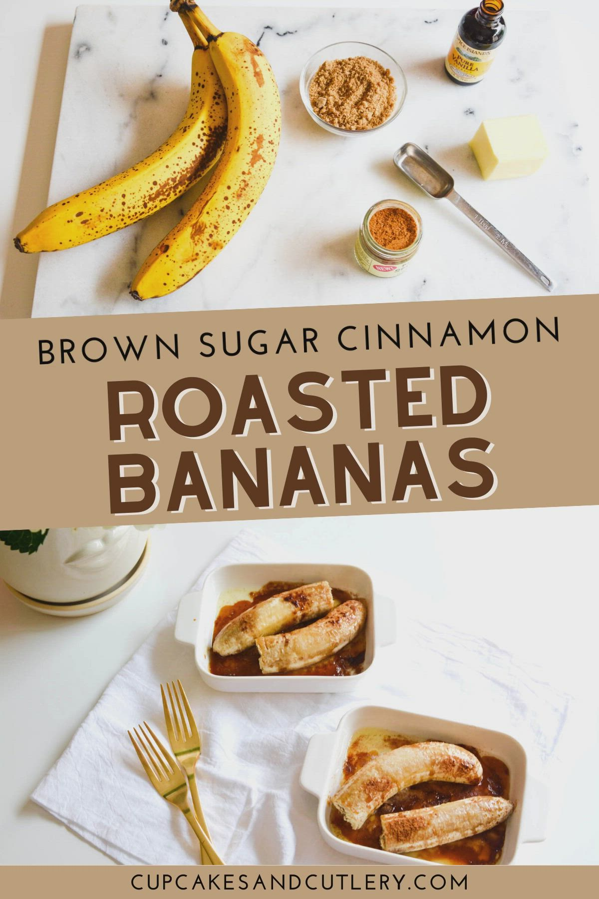 Roasted Bananas With Brown Sugar And Cinnamon Video In 2021 Roasted Banana Snacks Desserts
