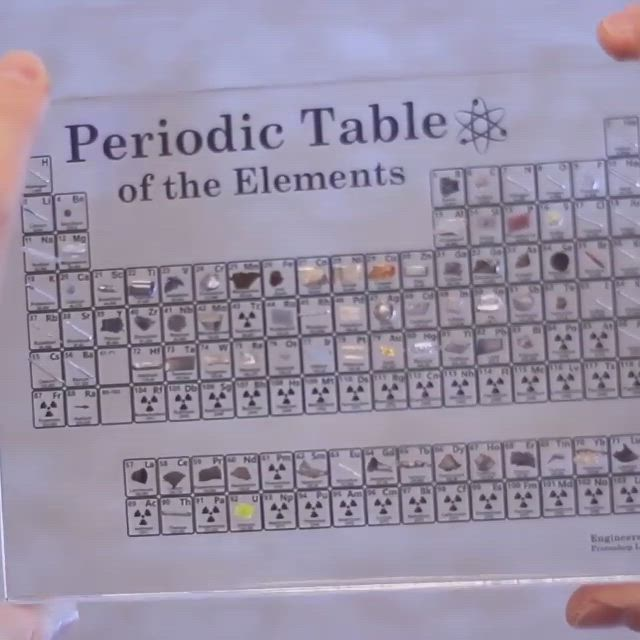 Real Element Periodic Table Video In 2021 Amazing Science Experiments Life Hacks For School Periodic Table