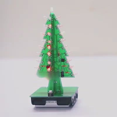 Diy Christmas Tree Led Flash Kit 3d Electronic Learning Kit Colorful Led Video Video In 2020 Christmas Diy Diy Christmas Tree Christmas Tree
