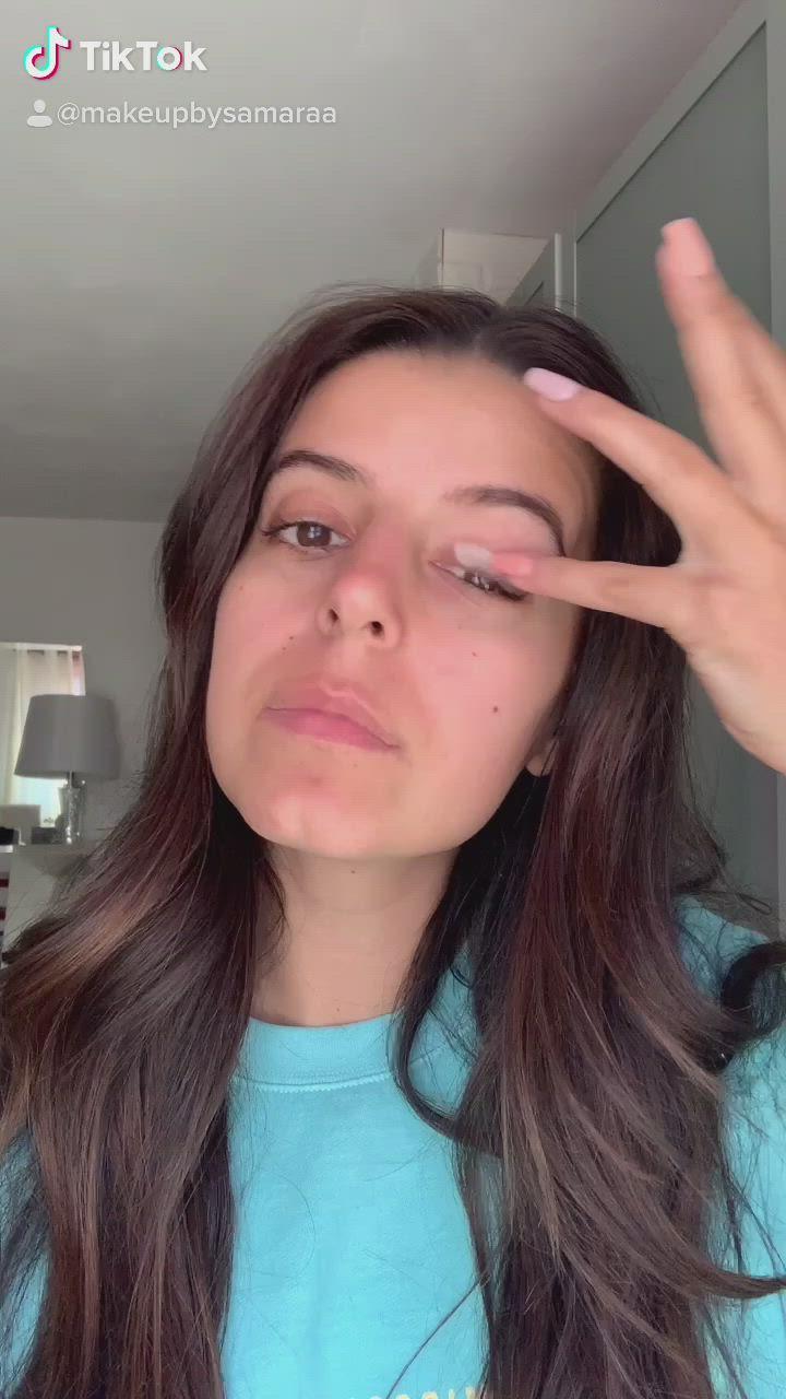 Tiktok Makeup Challenge Video Glamorous Makeup Kylie Jenner Lipstick Natural Glam