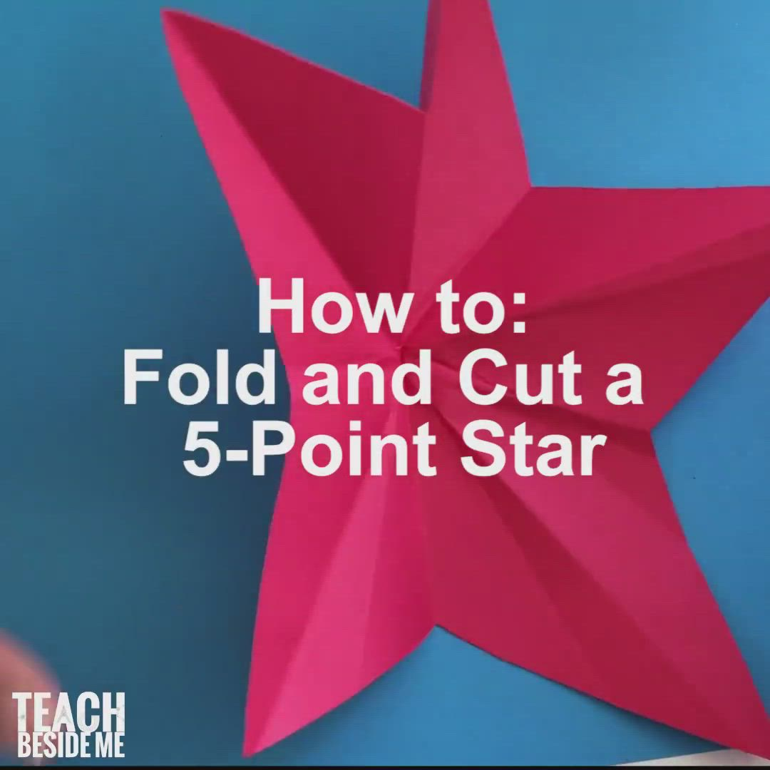 How To Make A Five Pointed Star Or Origami Star Video Video In 2020 Diy Crafts For Gifts Labor Day Crafts Craft Activities For Kids