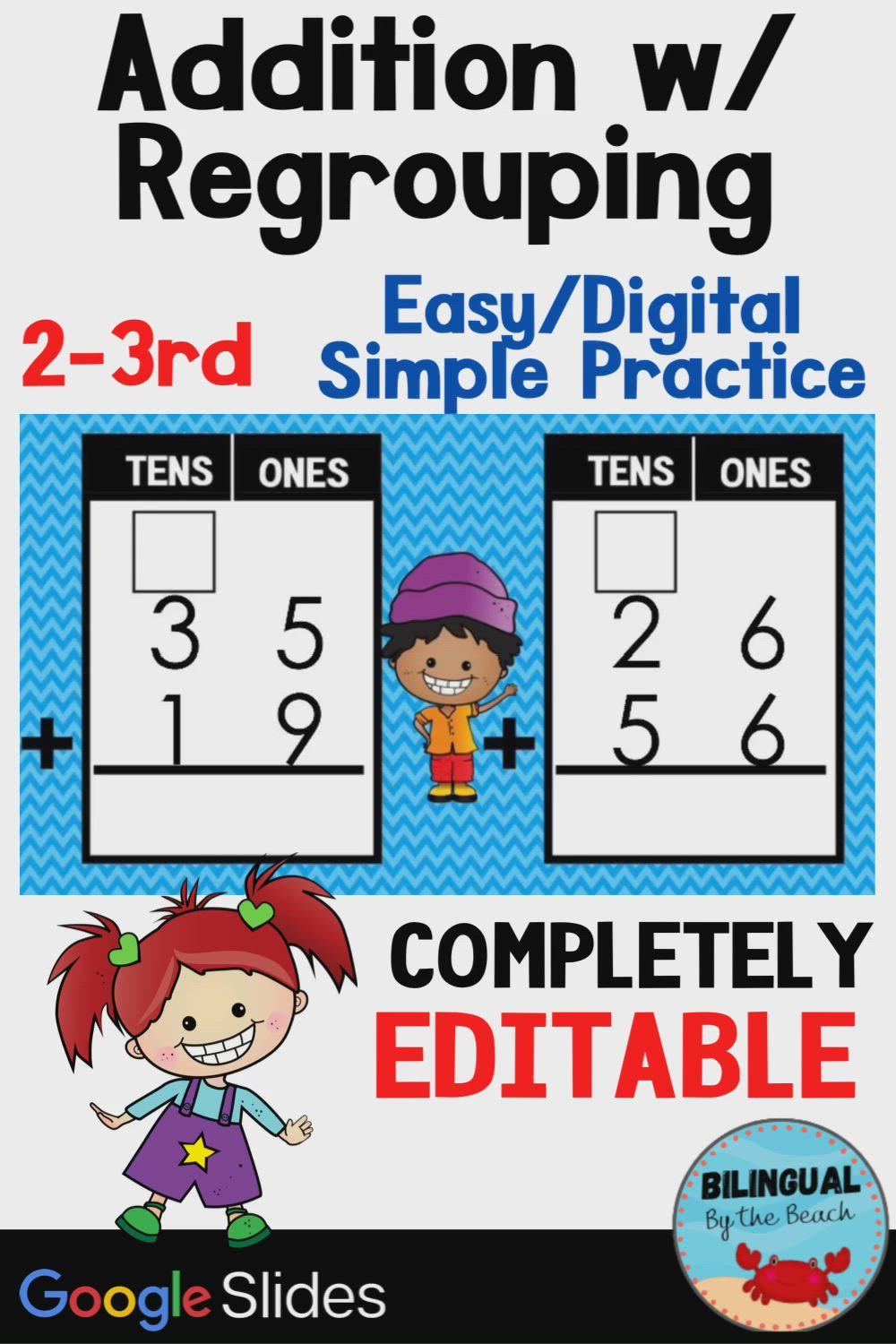 Addition With Regrouping Easy Digital Simple Practice Second Grade To 3 Grade Mat Video Addition And Subtraction Practice Early Elementary Resources Third Grade Math Addition with regrouping video grade