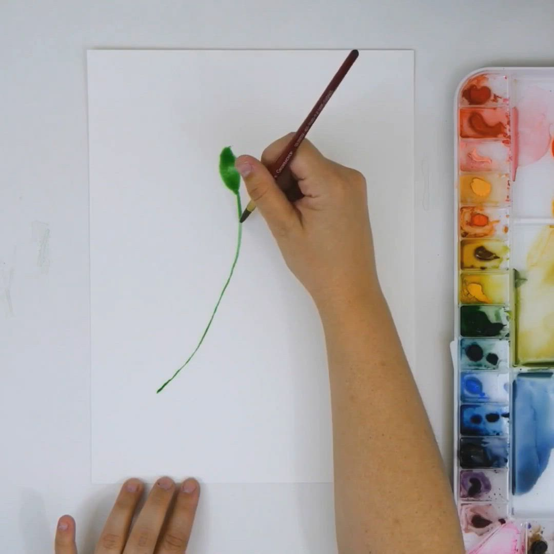Learn To Paint Leaves In Many Shades Of Green On The Snowberry