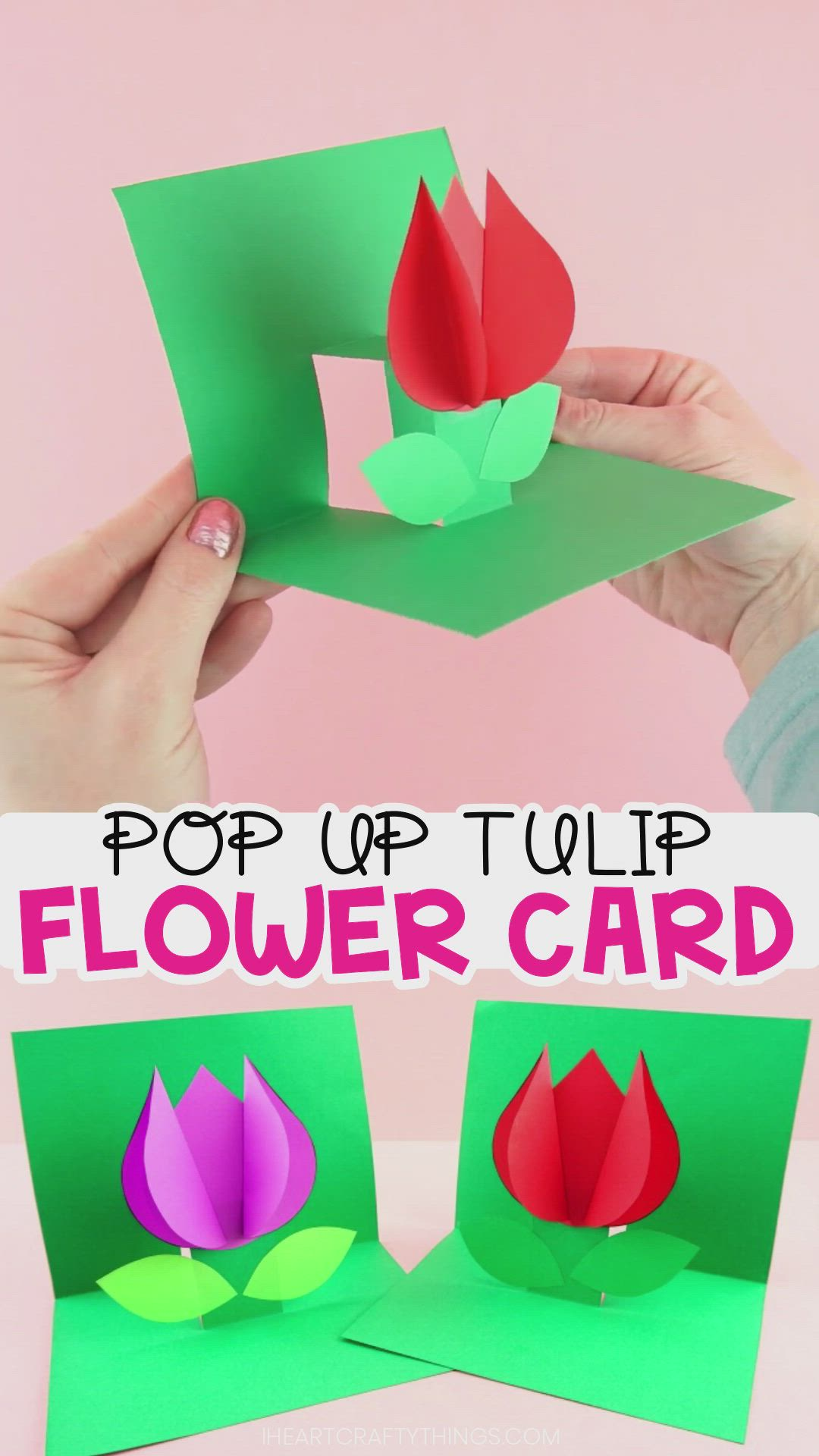 How To Make A Pop Up Flower Card Easy Spring Tulip Craft For