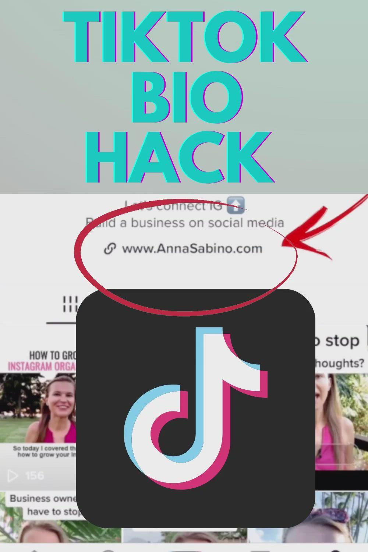How To Add A Link To Your Tiktok Bio Clickable Website Link On Tiktok Video Video Marketing Online Entrepreneur Social Media