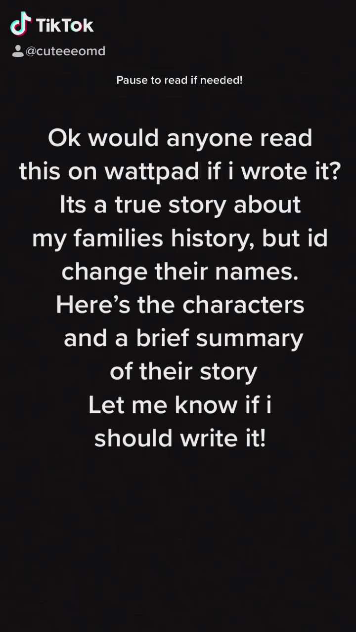 Short New Novel On Wattpad Comment If You Would Read This Story And I Ll Start Writing It Video Novel Writing Romantic Novels Family History