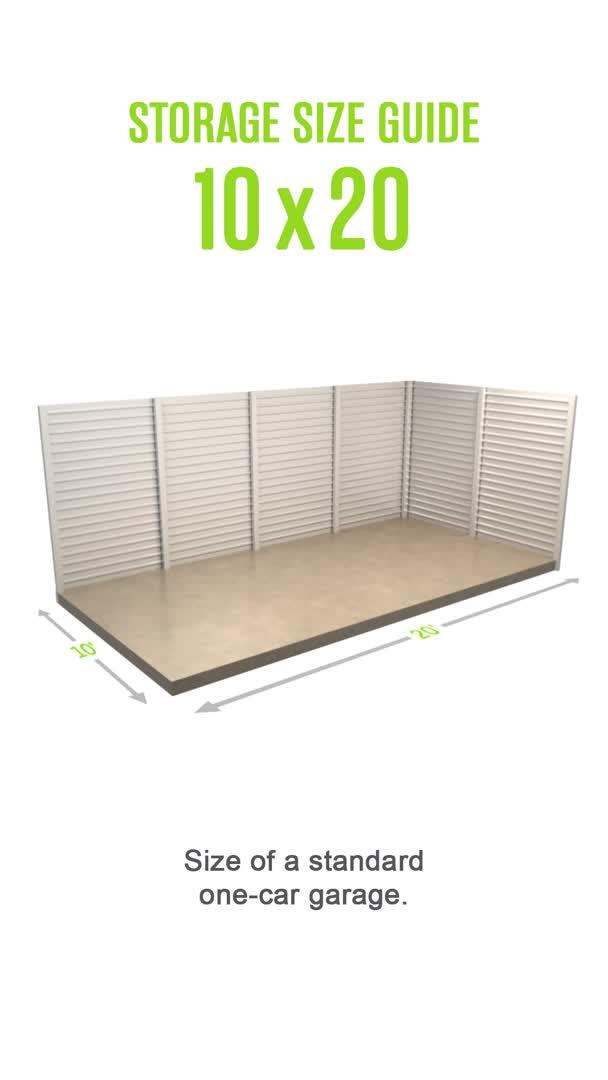 Storage Unit Size Guide Extra Space Storage Video Video Storage Unit Sizes Storage Unit Organization Self Storage Units