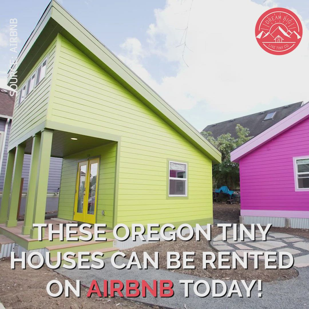 20 Tiny Houses In Oregon You Can Rent On Airbnb Today Video Video Tiny House Rentals Best Tiny House Small House Design Plans
