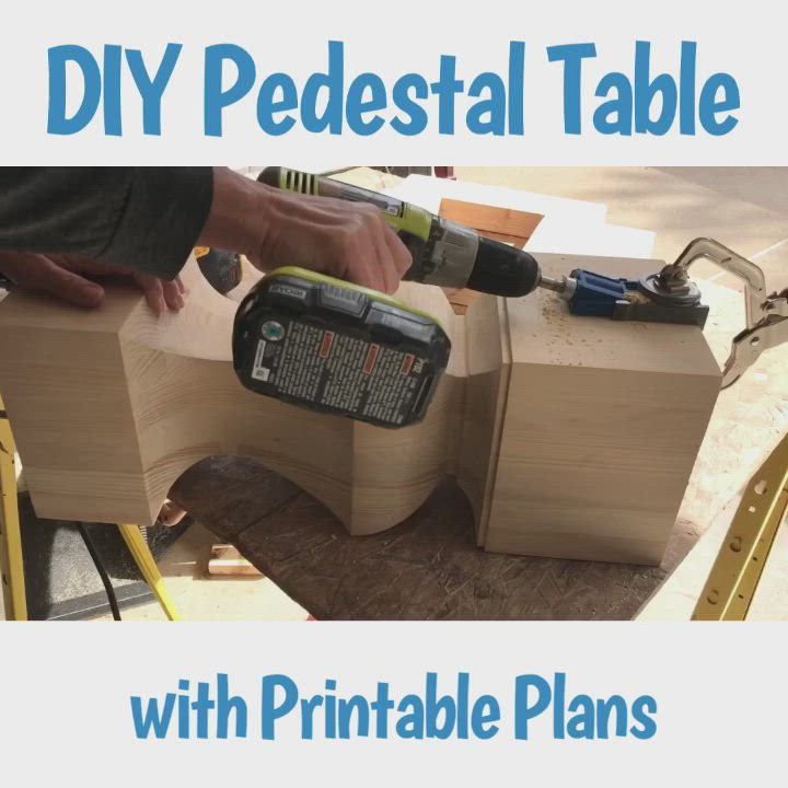 Diy Wooden Kitchen Table With A Pedestal Base Abbotts At Home Video Wooden Kitchen Table Diy Furniture Videos Wooden Diy