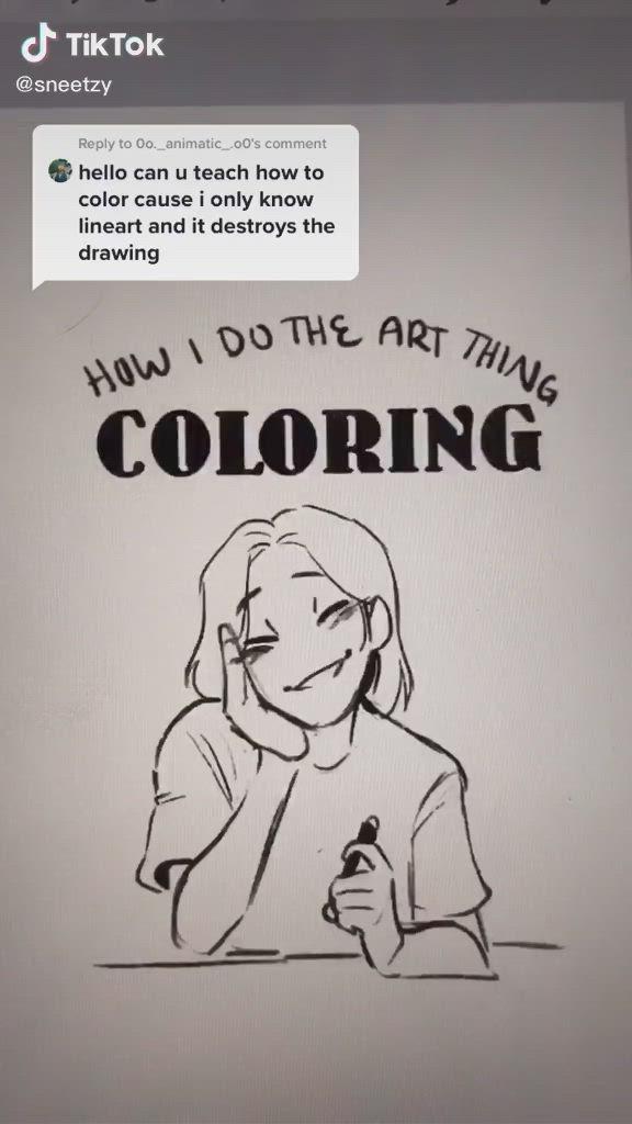 Coloring Tutorial Sneetzy Video Digital Art Tutorial Drawings Digital Art Beginner