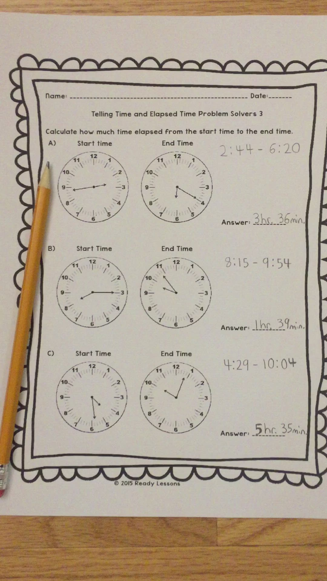 small resolution of 3rd Grade Telling Time to the Minute Worksheets Elapsed Time 3.MD.1 Video    Third grade math
