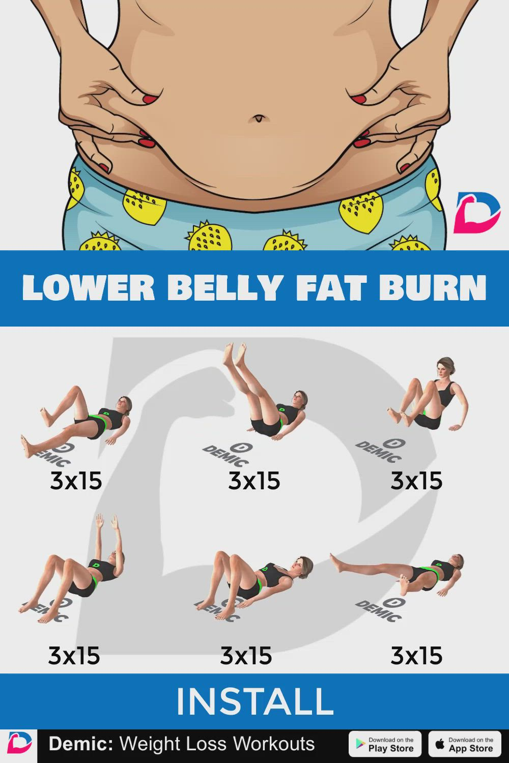 Stress belly workouts