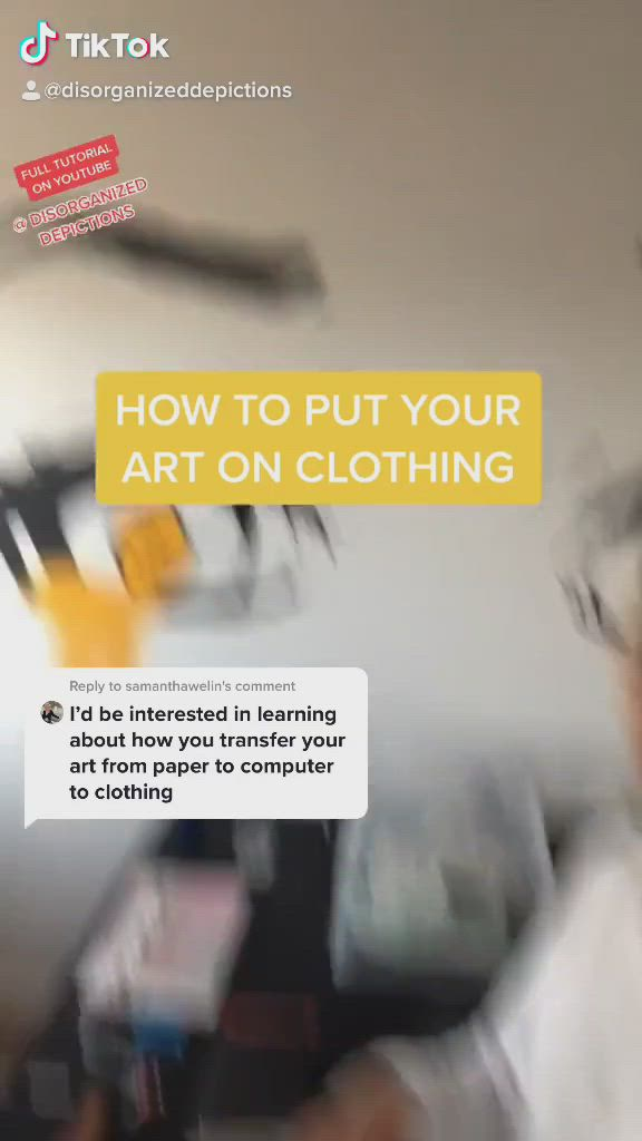 How To Put Your Art On Clothing Video Fashion Design Sketchbook Fashion Design Sketch Fashion Design Drawing