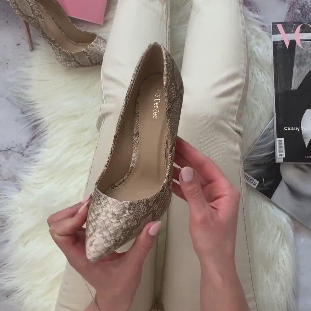 Czolenka Z Printem Zwierzecym Video Animal Print Heels Shoes