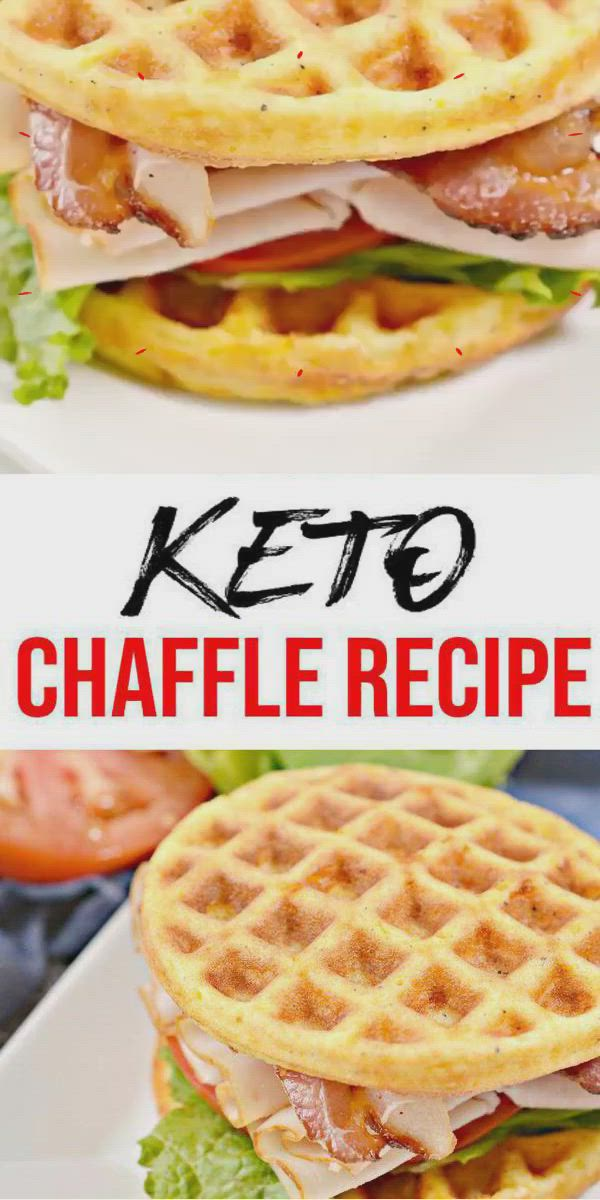 {Keto Chaffles} Tasty & easy low carb keto chaffle recipe. Quick & yummy chaffle for simple keto breakfast, snack, keto lunch or keto dinner. Learn how to make keto chaffles w/ these easy ketogenic diet recipe. Skip the fast food, take out or delievery & make this homemade low carb keto chaffle sandwich - keto BLT chaffle sandwich. Pick your favorite sandwich toppings: meat, cheese, bacon, eggs & more. Check out this favorite keto food recipe :) #lowcarbrecipe