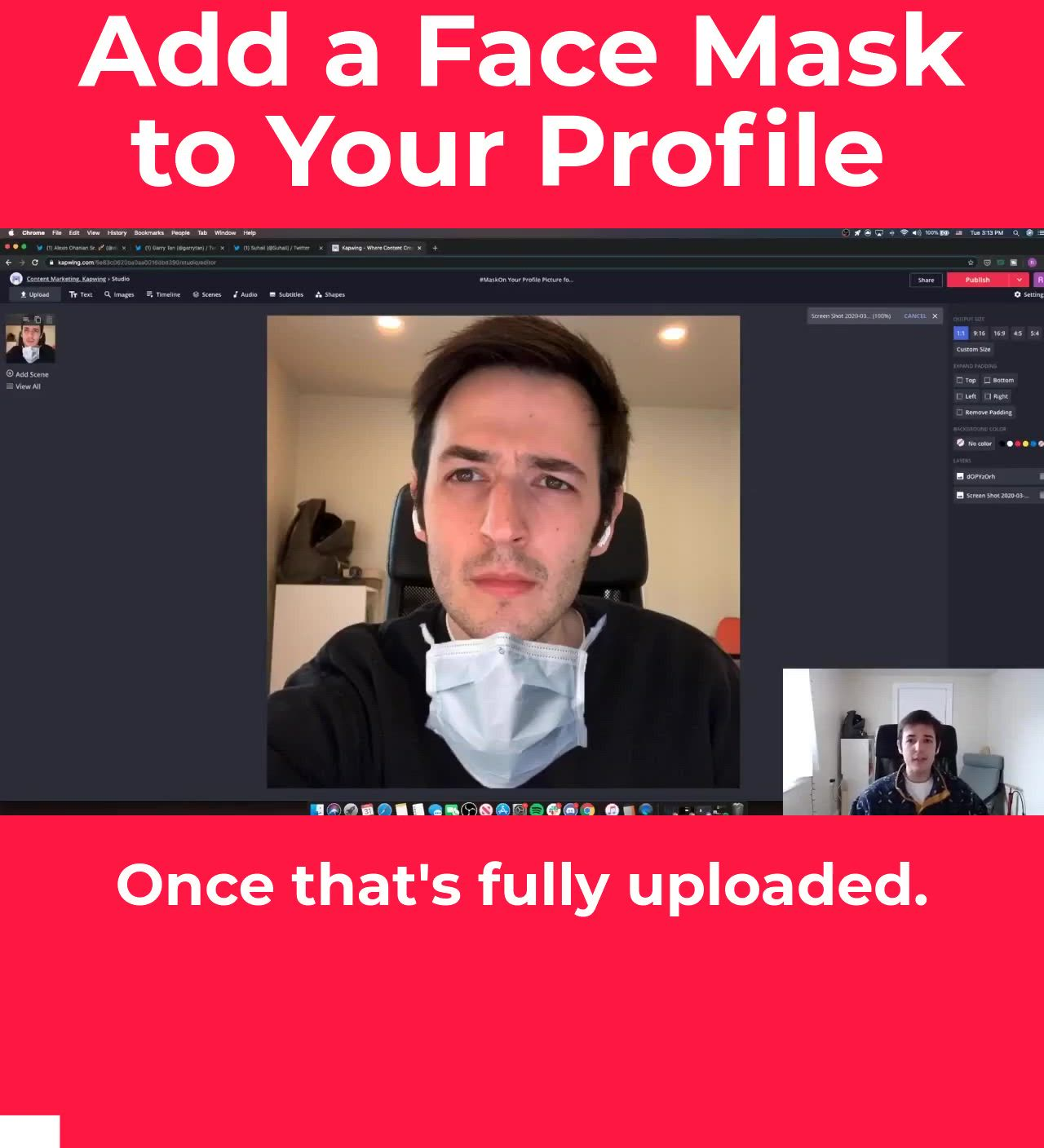 Maskon Template Video Profile Picture Ads Health And Safety