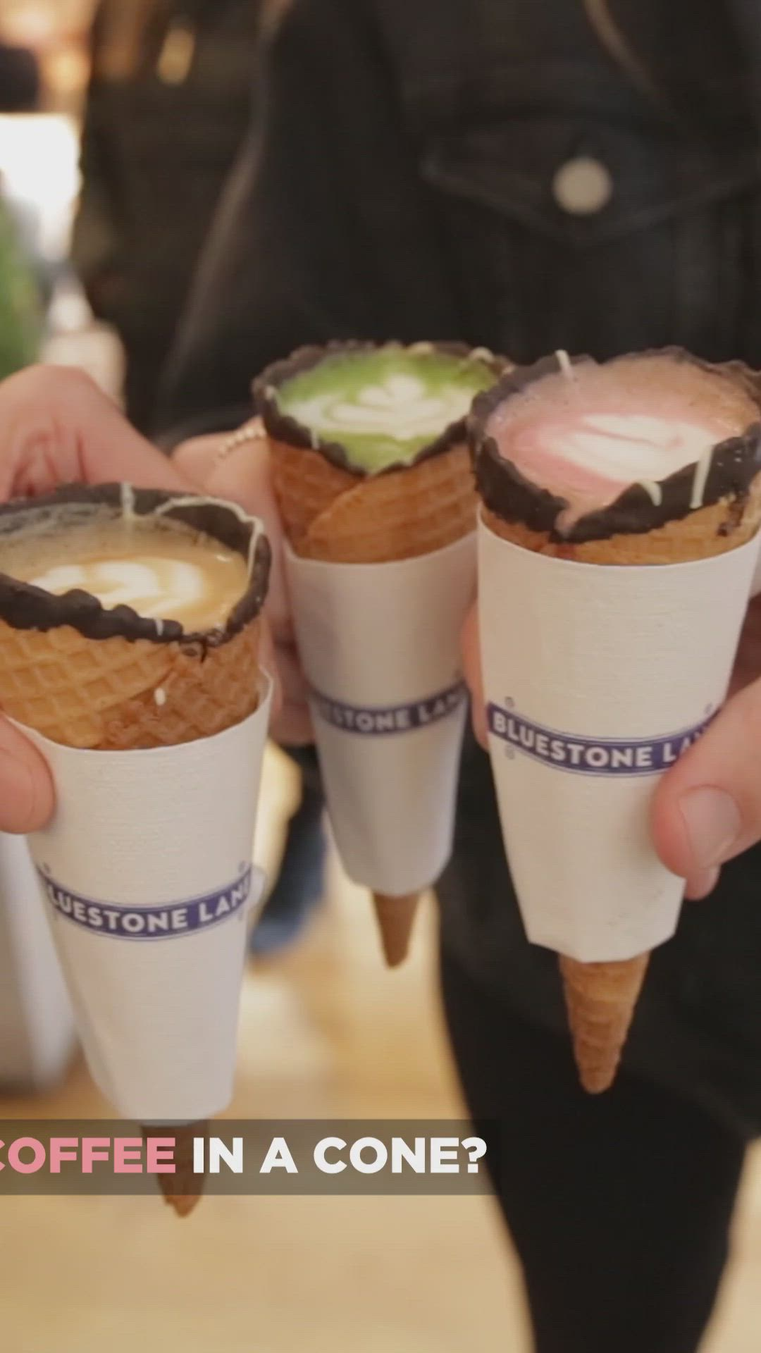 Coffee In A Cone Video Cafe Food Coffee In A Cone Coffee Recipes