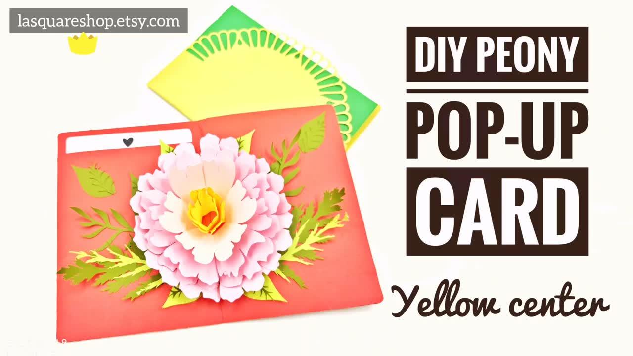 3d Pop Up Greeting Card Diy Flower Pop Up Card Printable Etsy Greeting Cards Diy Greeting Cards Handmade Pop Up Card Templates