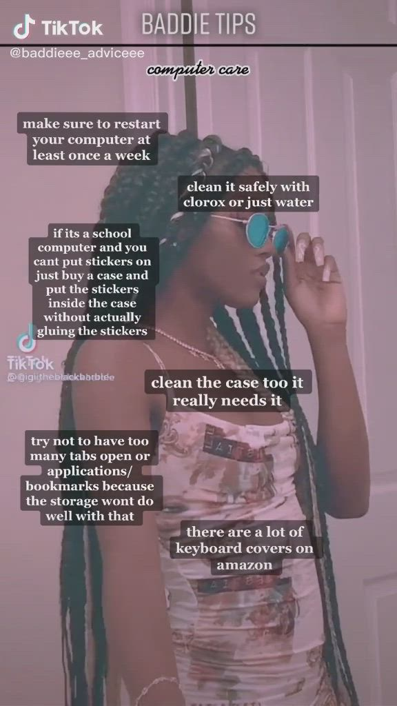 Baddie Computer Care Video In 2021 Baddie Tips Black Girl Aesthetic Girl Tips