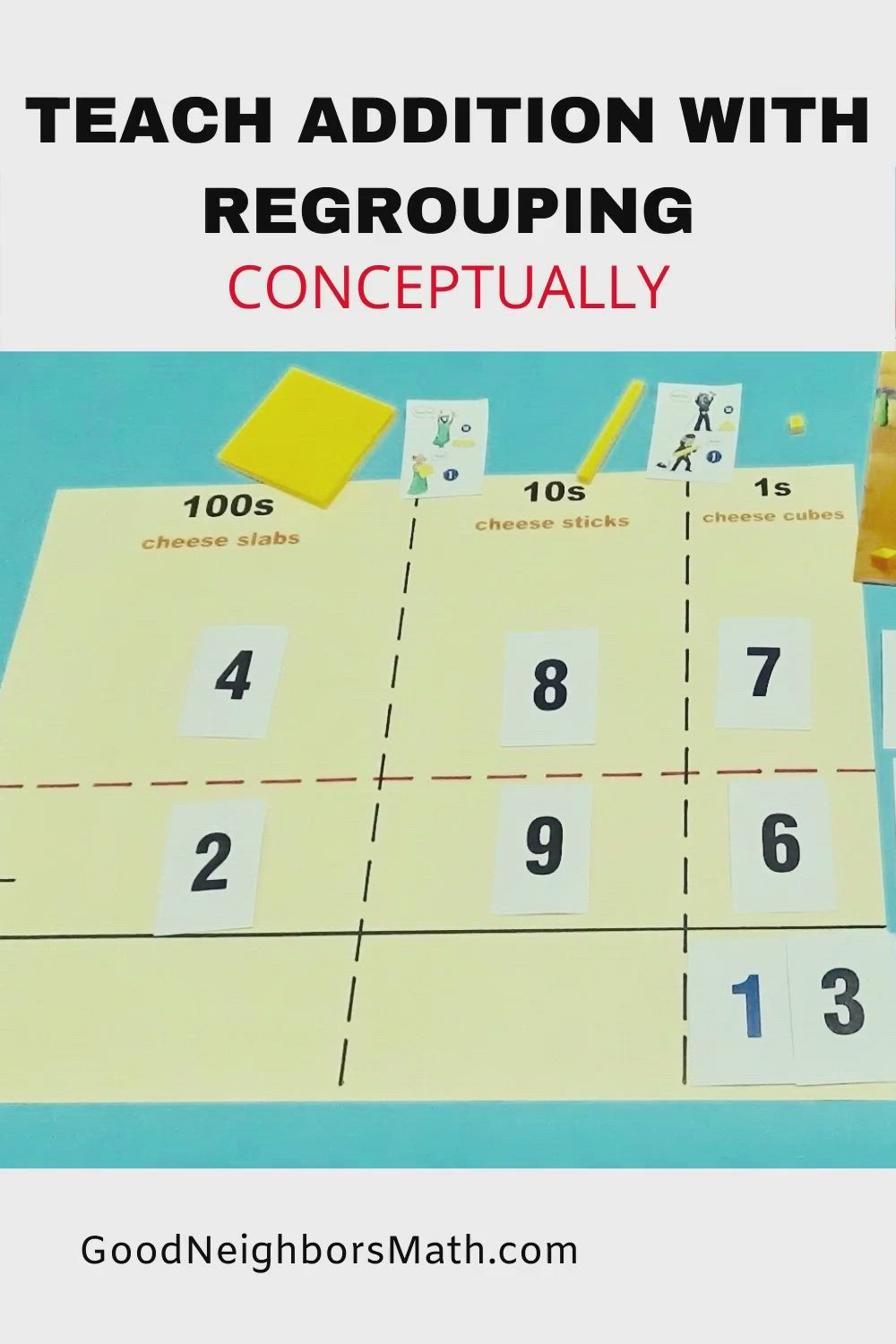 Teach Addition With Regrouping Conceptually Video Teaching Teaching Elementary Visible Learning How to explain addition with regrouping
