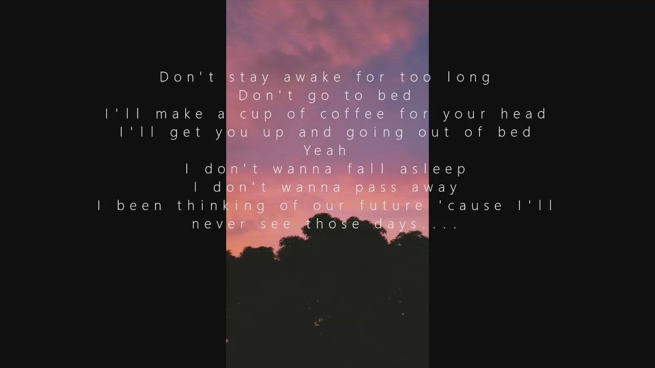 Death Bed Cup Of Coffee For Your Head Lyrics