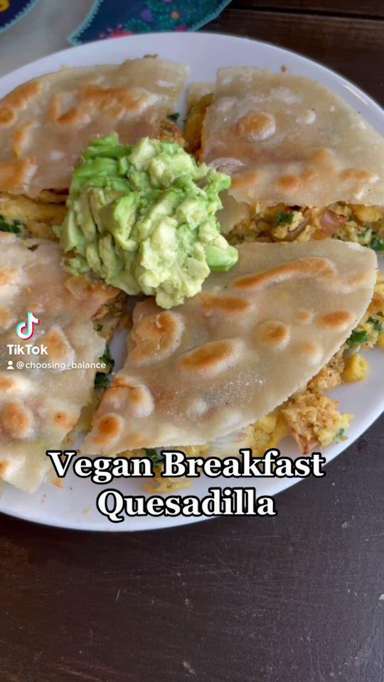 Vegan Breakfast Quesadilla Video In 2021 Vegan Recipes Vegan Breakfast Recipes Vegan Cookbook