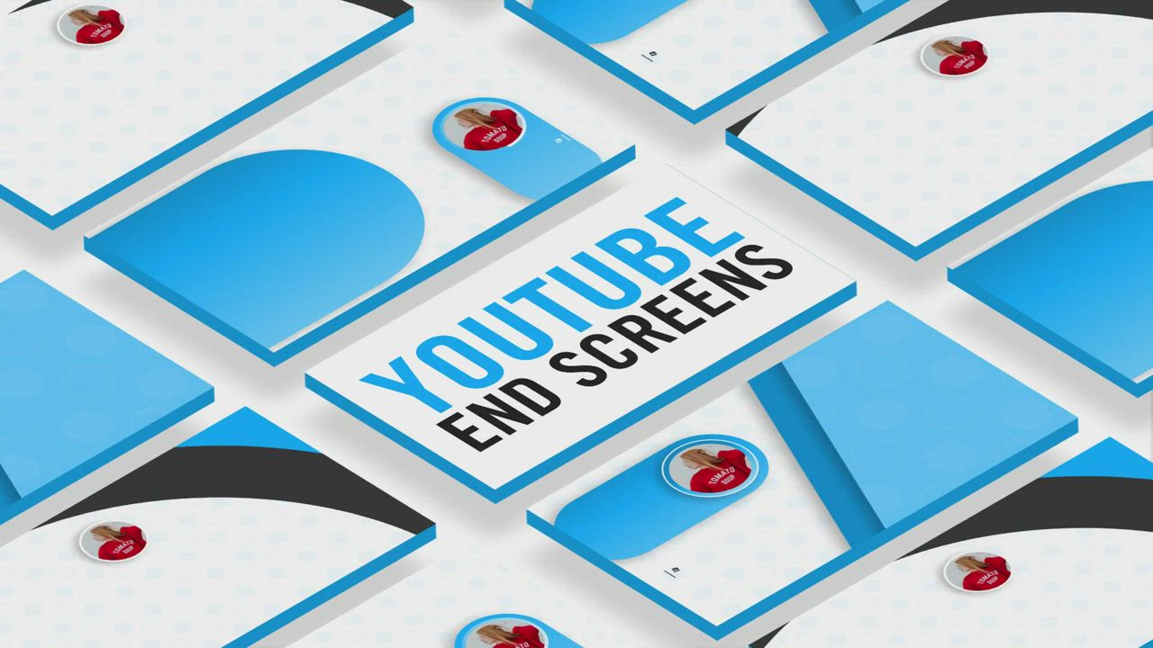 Video 5 Minimal Youtube End Screen Video After Effects Template