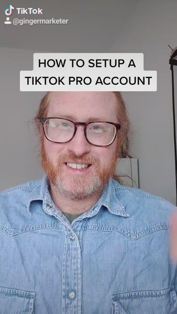 How To Setup A Tiktok Pro Account Video Setup Good To Know Tutorial