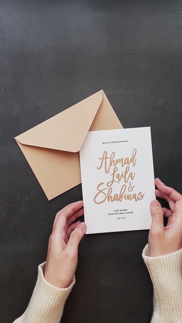 Champagne Foil Wedding Invitations Video Wedding Invitation Envelopes Wedding Invitation Cards Vintage Wedding Invitations