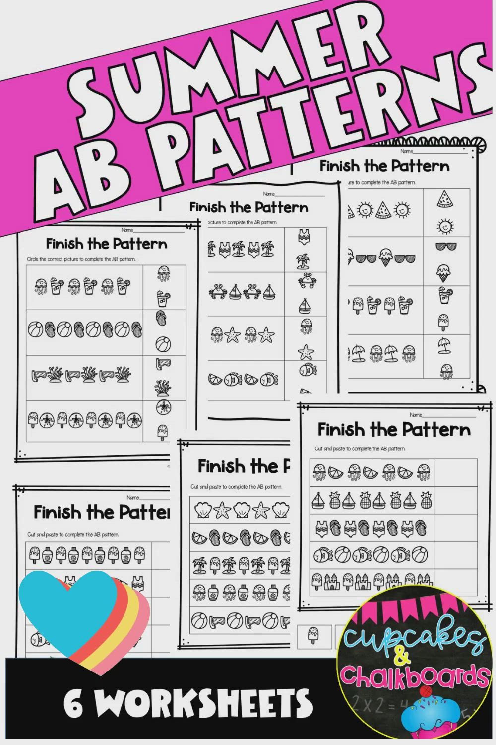 Summer Ab Patterns Worksheets Video In 2020 Ab Pattern Worksheet Ab Patterns Pattern Worksheet