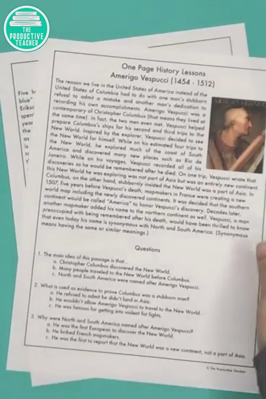 Explorers Reading Passage Set Video Reading Comprehension Passages Reading Comprehension Practice Reading Passages [ 1500 x 1000 Pixel ]