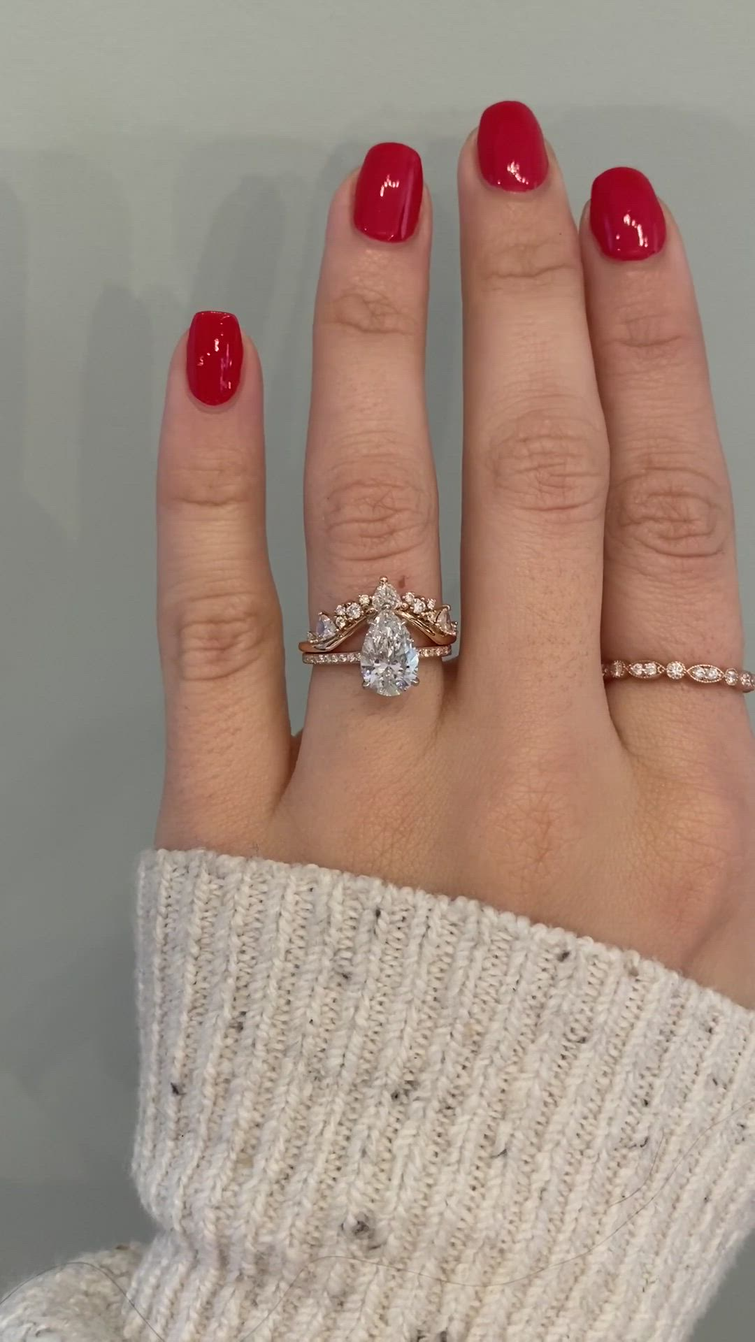 Lauren Tempest With 1 5 Carat Pear Diamond Video In 2020 Rose Gold Engagement Ring Engagement Rings Vintage Inspired Engagement Rings