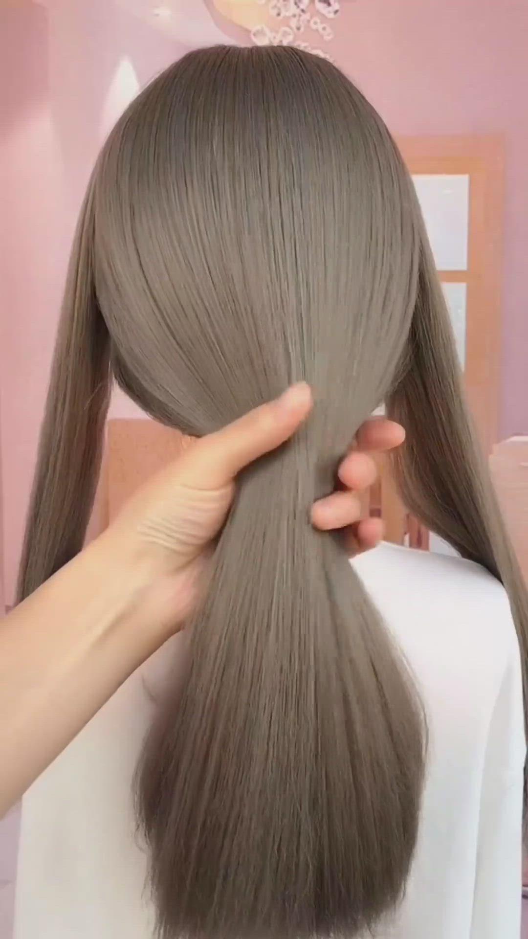 Heart Shape Hairstyle Video In 2020 Hair Styles Hair Videos Hair Braid Videos