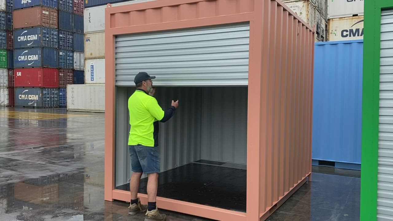 Shipping Containers For Sale In Melbourne Containerspace Video Video In 2020 Container House Best Tiny House Roller Doors